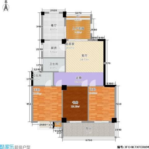 左海帝景3室1厅2卫1厨162.00㎡户型图