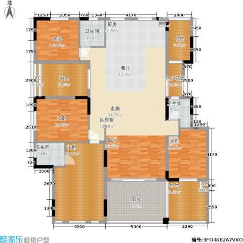 劲嘉金棕榈湾4室0厅3卫0厨192.00㎡户型图
