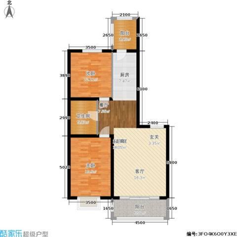群力观江国际2室0厅1卫0厨117.00㎡户型图