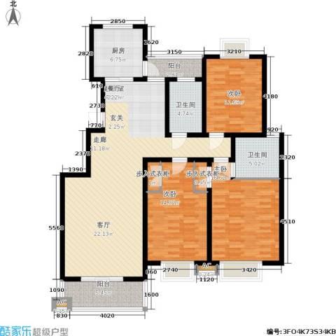 启迪・书香逸居3室0厅2卫1厨162.00㎡户型图