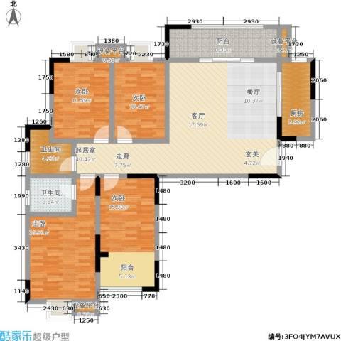怡水花园4室0厅2卫1厨136.00㎡户型图