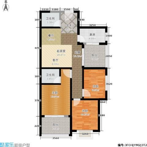 仕府公馆3室0厅2卫1厨99.00㎡户型图
