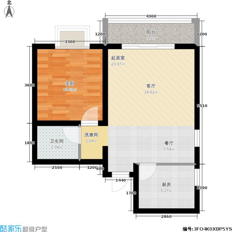 旭景崇盛园62.00㎡G户型1室1厅