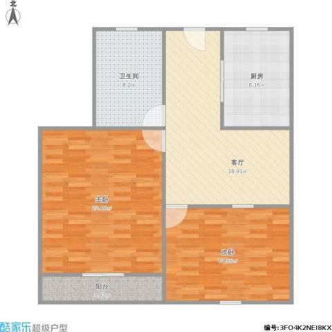 新泾六村2室1厅1卫1厨102.00㎡户型图