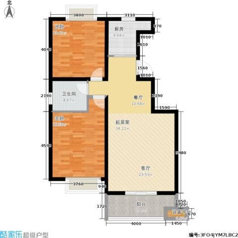 启迪书香逸居2室0厅1卫1厨98.00㎡户型图