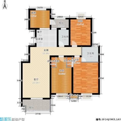 启迪书香逸居3室0厅2卫1厨130.00㎡户型图