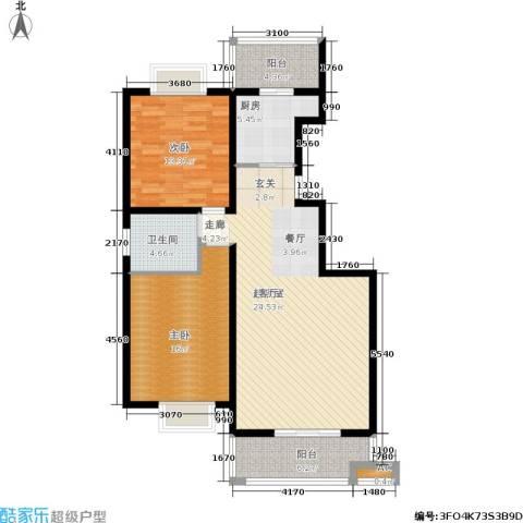 启迪・书香逸居2室0厅1卫1厨122.00㎡户型图