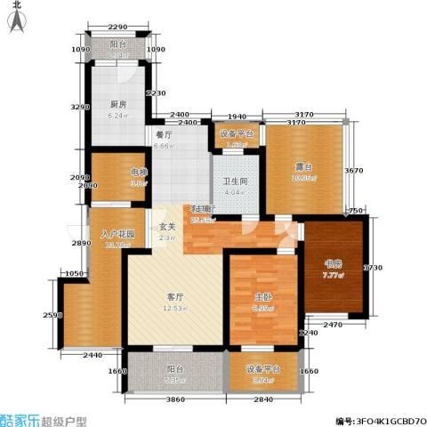 绿地商务城2室1厅1卫1厨107.00㎡户型图