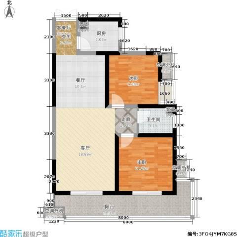瑞泰卡地亚2室1厅1卫1厨105.00㎡户型图