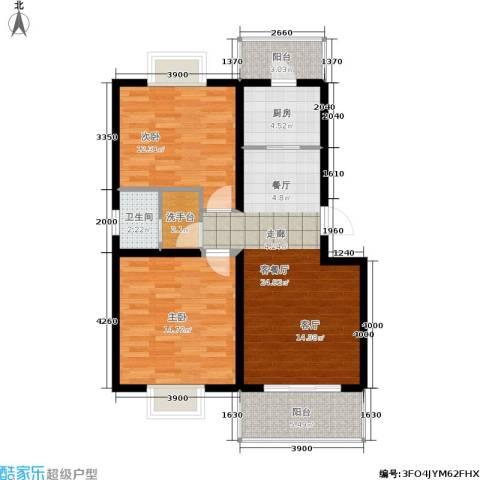 颐和盛世2室1厅1卫1厨86.00㎡户型图