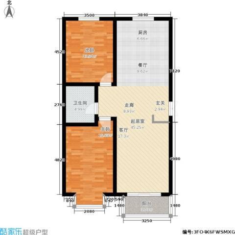 华茂名居2室0厅1卫0厨119.00㎡户型图