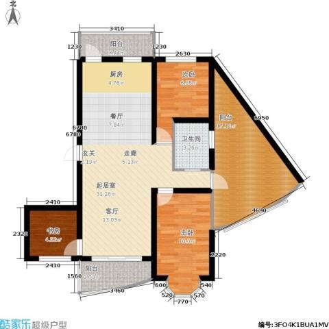 帝景豪庭3室0厅1卫0厨112.00㎡户型图