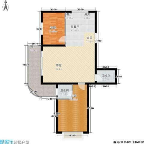 帝景豪庭2室1厅2卫0厨136.00㎡户型图