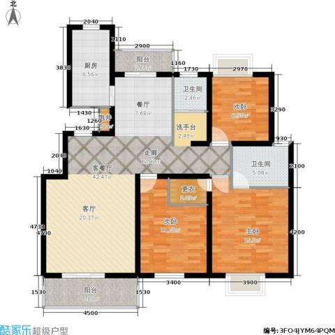 颐和盛世3室1厅2卫1厨127.00㎡户型图