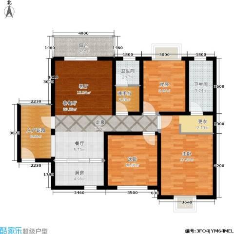 颐和盛世3室1厅2卫1厨110.00㎡户型图