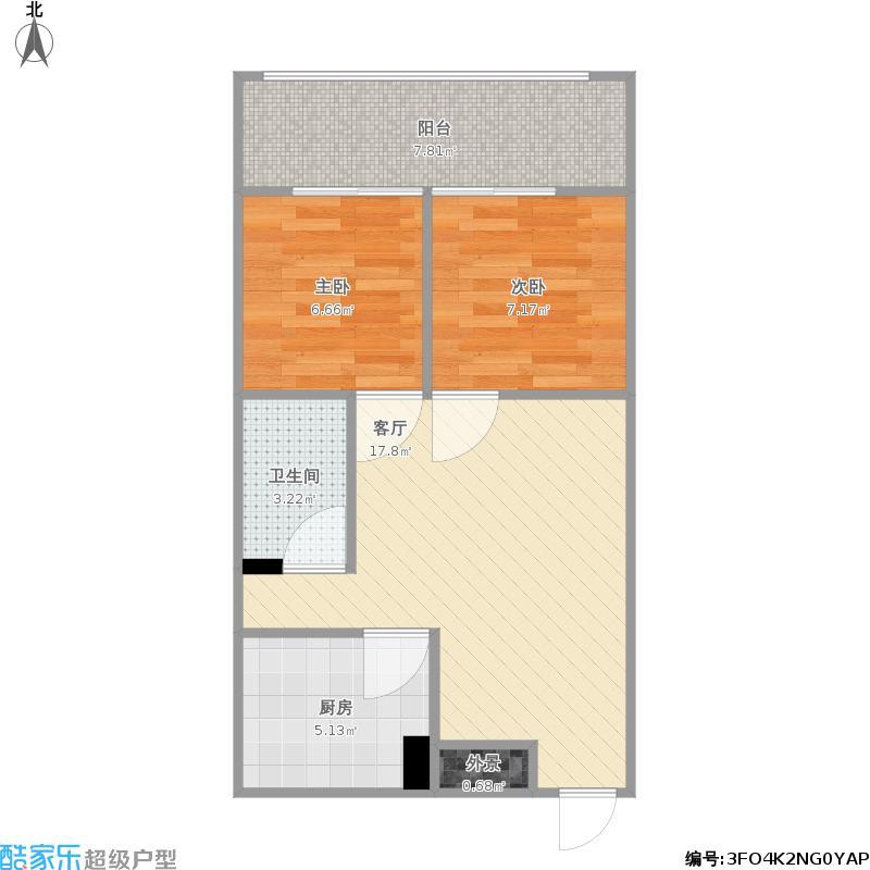 瑞丽江畔-实际测量尺寸户型0301-装修