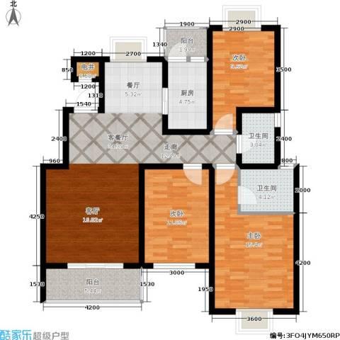 颐和盛世3室1厅2卫1厨114.00㎡户型图