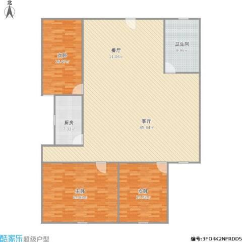 鹏程宝都3室1厅1卫1厨210.00㎡户型图