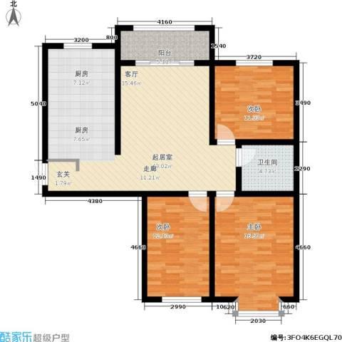 华茂名居3室0厅1卫0厨132.00㎡户型图