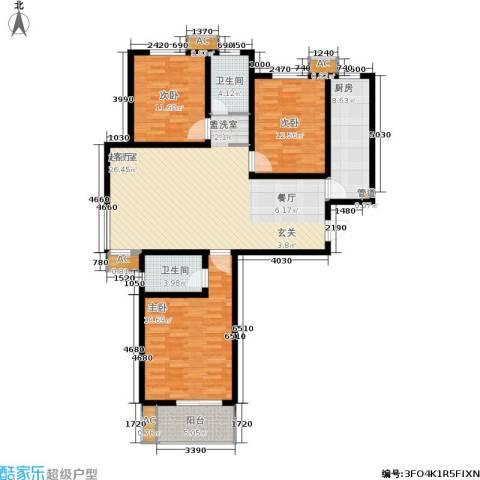 石门福地3室0厅2卫1厨152.00㎡户型图