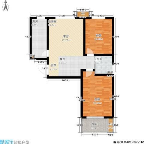 石门福地2室0厅1卫1厨111.00㎡户型图
