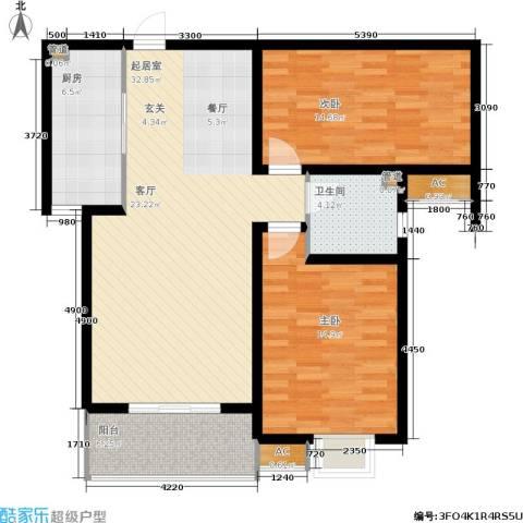 石门福地2室0厅1卫1厨115.00㎡户型图