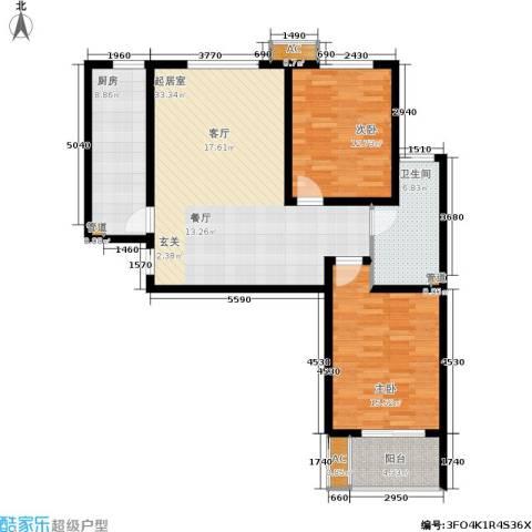 石门福地2室0厅1卫1厨119.00㎡户型图