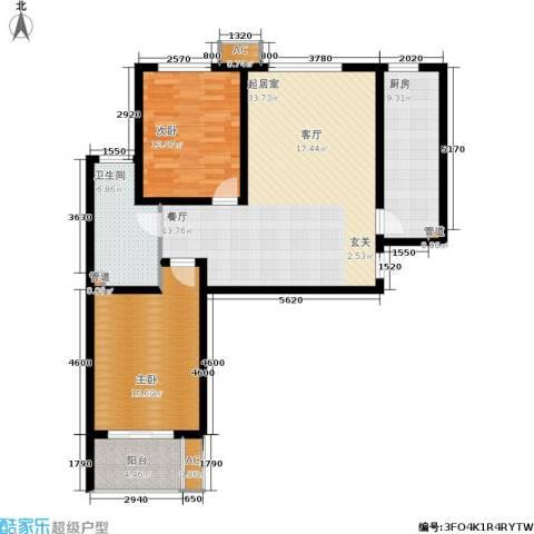 石门福地2室0厅1卫1厨120.00㎡户型图