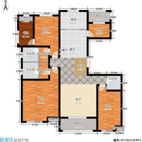 九珑邑4室1厅3卫1厨224.00㎡户型图