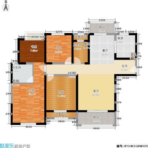 景瑞望府3室0厅2卫1厨142.00㎡户型图