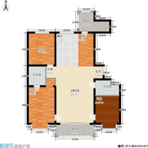 群力观江国际3室0厅2卫0厨181.00㎡户型图