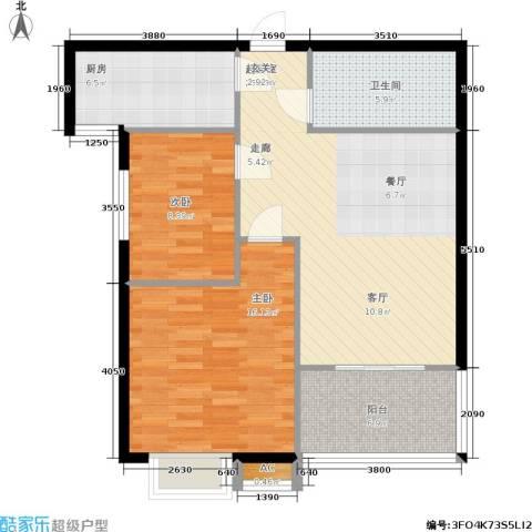 启迪・书香逸居2室0厅1卫1厨98.00㎡户型图