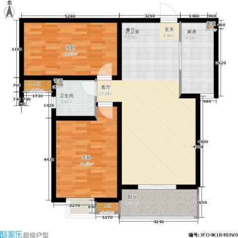 石门福地2室0厅1卫1厨114.00㎡户型图