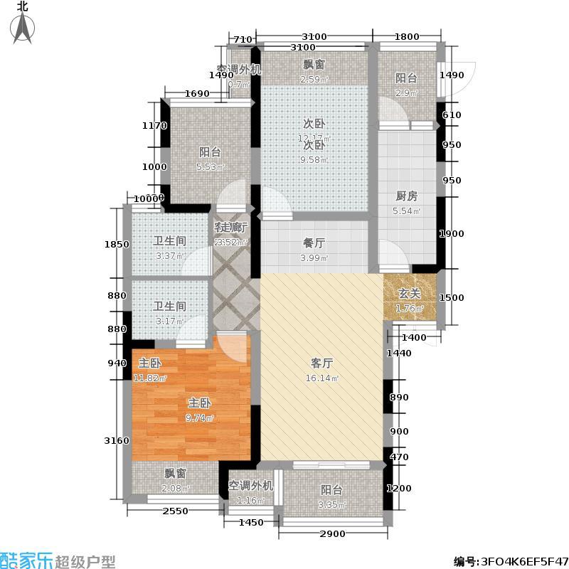 融晟公园大地93.00㎡融晟公园大地93.00㎡2室2厅1卫户型2室2厅1卫