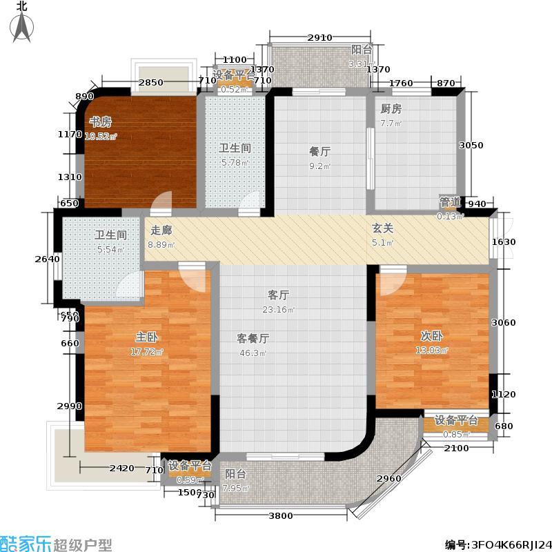中央花园136.97㎡三房二厅二卫-136.97平方米-20套户型