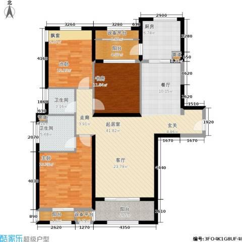 景瑞望府3室0厅2卫1厨125.00㎡户型图