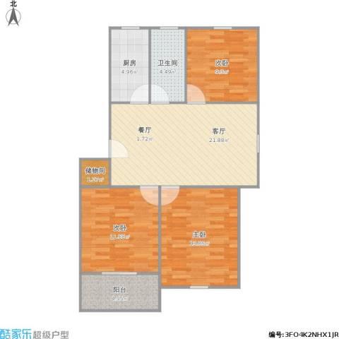 南苑九村3室1厅1卫1厨97.00㎡户型图