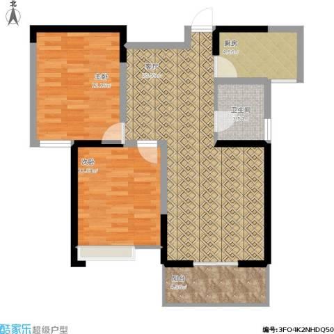 禹洲翡翠湖郡2室1厅1卫1厨90.00㎡户型图