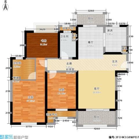 景瑞望府2室0厅2卫1厨123.00㎡户型图