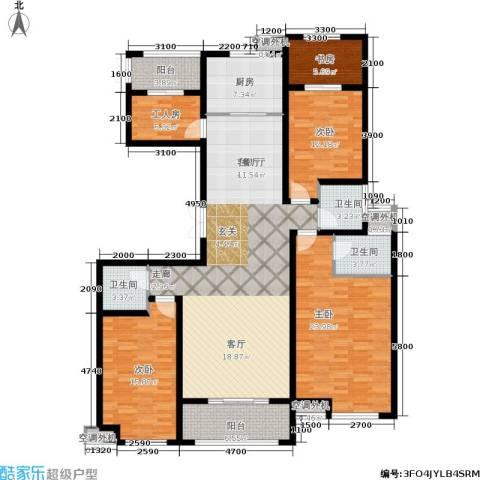 九珑邑4室1厅3卫1厨195.00㎡户型图