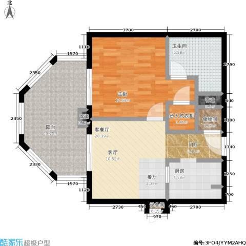 国信龙沐湾1室1厅1卫0厨77.00㎡户型图
