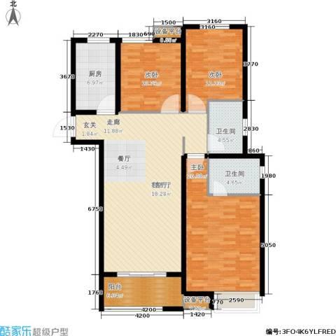 中海锦�湾3室1厅2卫1厨116.00㎡户型图