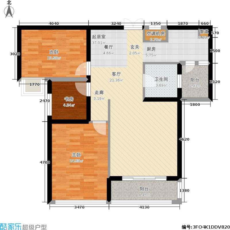 融辉城2期-蓝湾半岛-花园洋房效果图5户型
