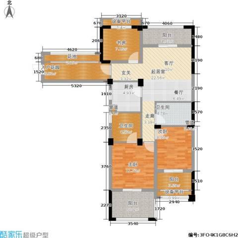 中港翡翠城3室0厅2卫1厨106.00㎡户型图