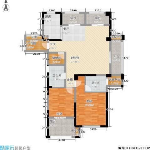 中港翡翠城2室0厅2卫1厨130.00㎡户型图