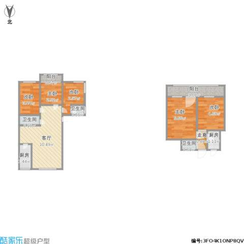 金色港湾5室1厅3卫2厨58.00㎡户型图
