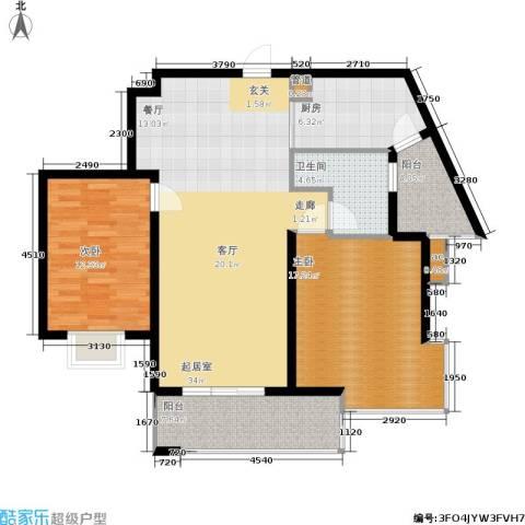 领秀冠南苑2室0厅1卫1厨97.00㎡户型图