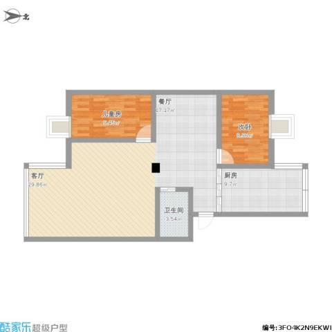 和风丽园2室1厅1卫1厨112.00㎡户型图