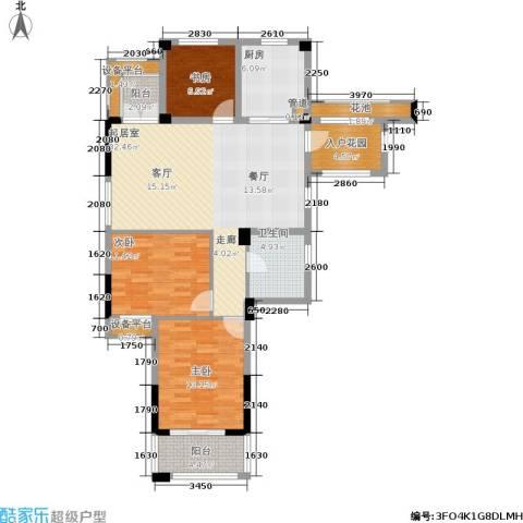 中港翡翠城3室0厅1卫1厨106.00㎡户型图