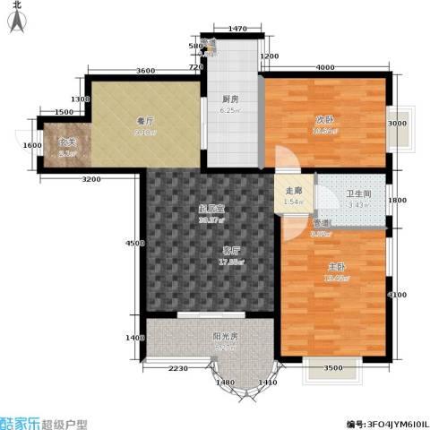 鼎翰名苑2室0厅1卫1厨95.00㎡户型图